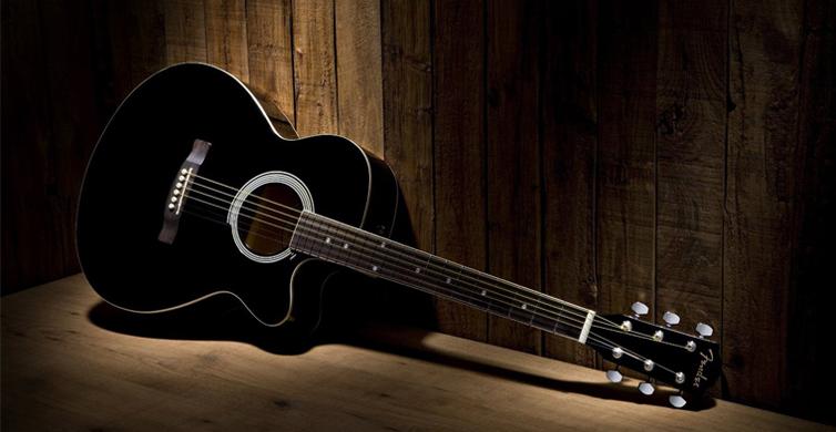 Black guitar bearbeitet
